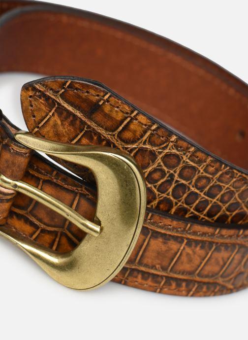 Ceintures Levi's Vintage Crocodile Emboss Belt Levi's Marron vue portées chaussures