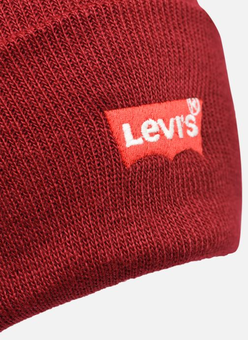 Bonnets Levi's BATWING EMBROIDERED SLOUCHY BEANIE Bordeaux vue face