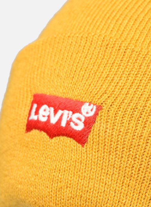 Bonnets Levi's BATWING EMBROIDERED SLOUCHY BEANIE Jaune vue face