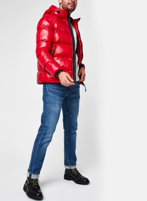 Vêtements Geox Man Sile Hood Jacket Rouge vue bas / vue portée sac
