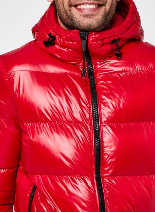 Vêtements Geox Man Sile Hood Jacket Rouge vue face