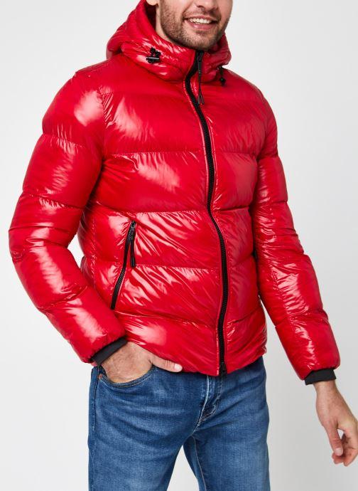 Vêtements Geox Man Sile Hood Jacket Rouge vue droite