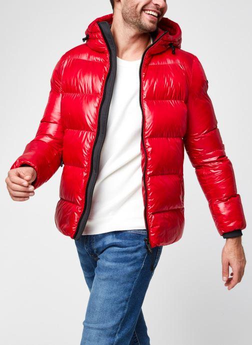 Vêtements Geox Man Sile Hood Jacket Rouge vue détail/paire