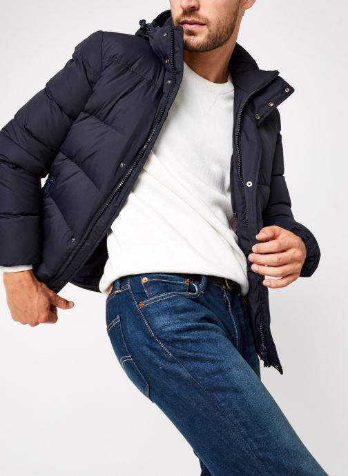 Kleding Geox Man Nettuno Hood Jacket Blauw detail