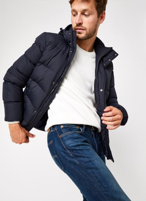 Ropa Geox Man Nettuno Hood Jacket Azul vista de detalle / par