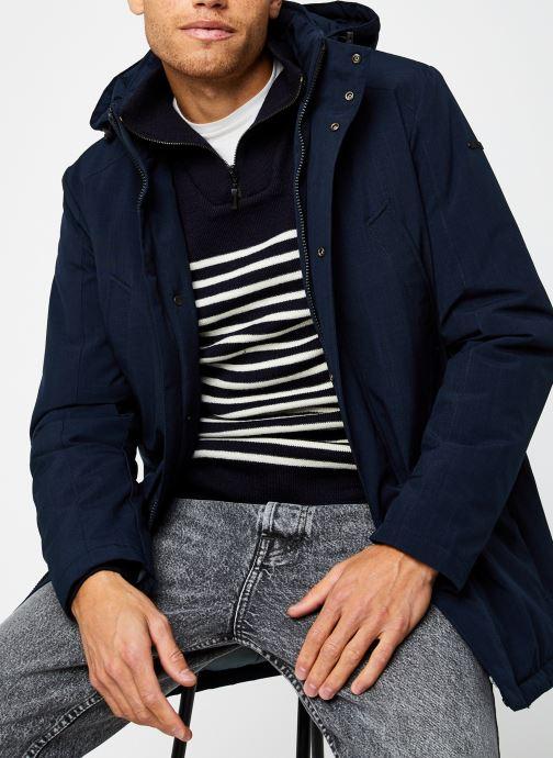 Kleding Geox Man Arral Long Jacket Blauw detail