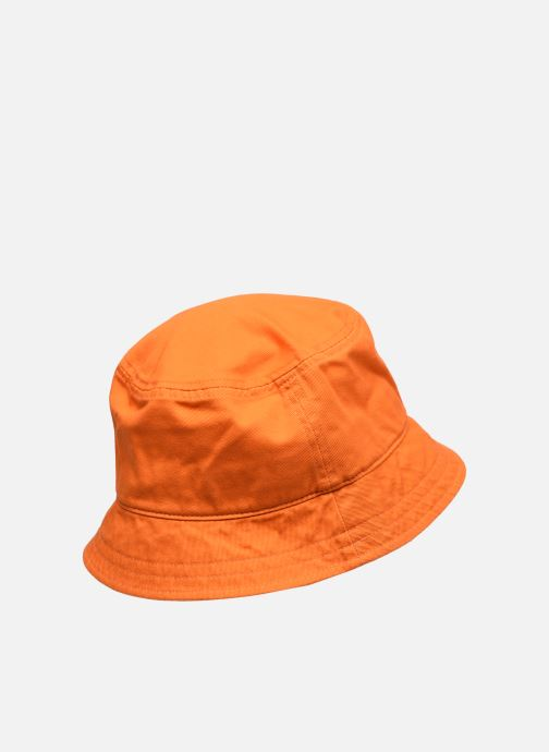 Sombrero Lyle & Scott Bucket Hat Naranja vista del modelo