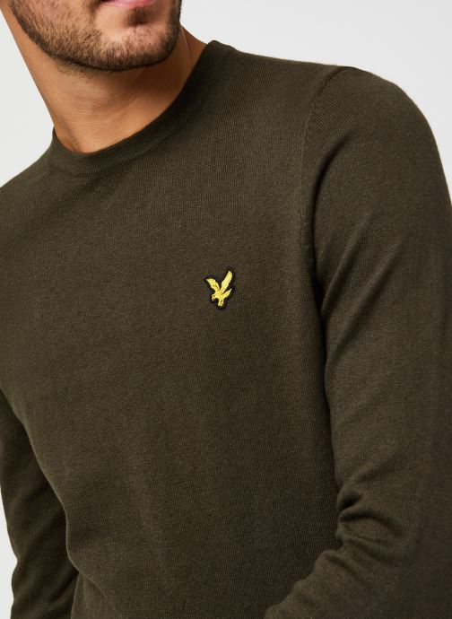 Vêtements Lyle & Scott Crew Neck Cotton Merino Jumper Vert vue face