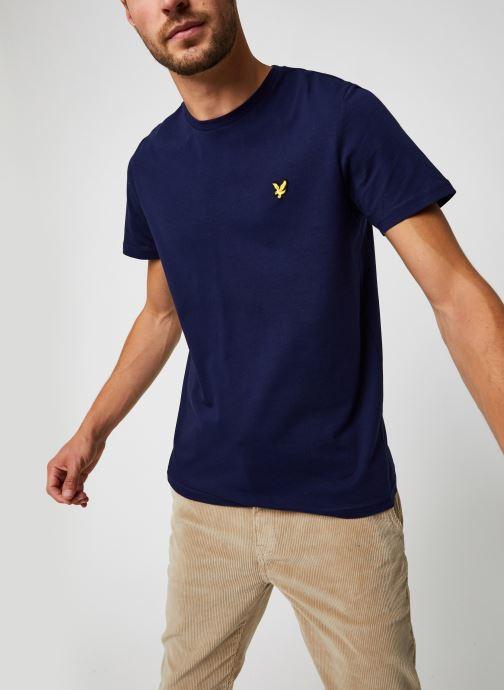Kleding Lyle & Scott Plain T-shirt Blauw detail