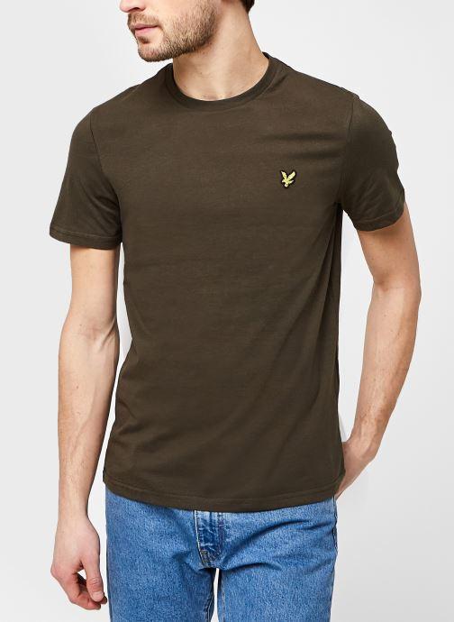 Kleding Lyle & Scott Plain T-shirt Groen detail