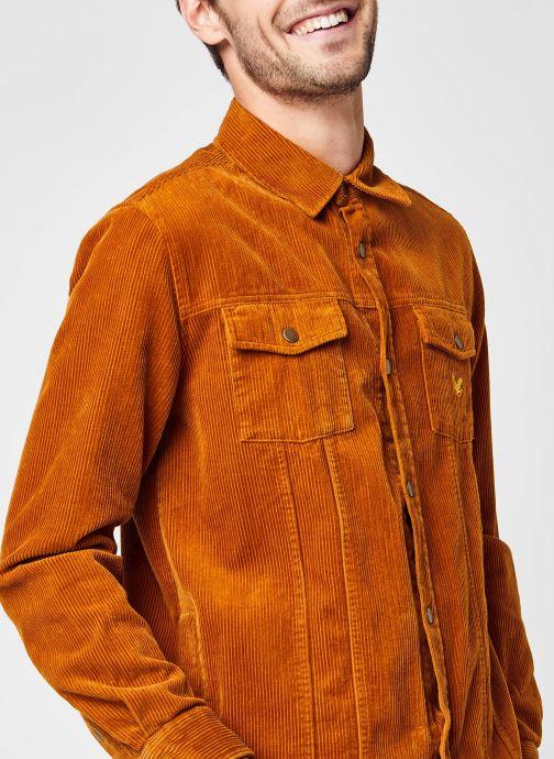 Vêtements Lyle & Scott Jumbo Cord Overshirt Marron vue face