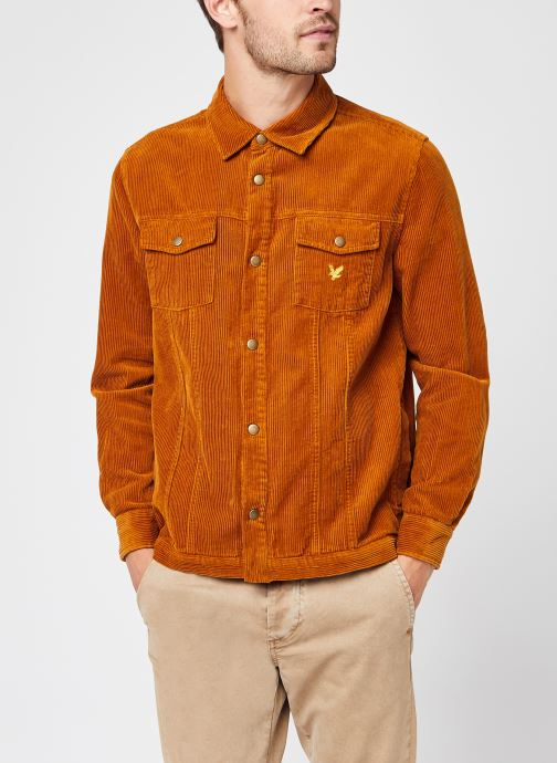 Vêtements Lyle & Scott Jumbo Cord Overshirt Marron vue droite