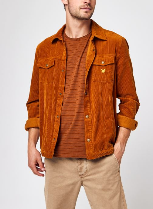 Vêtements Lyle & Scott Jumbo Cord Overshirt Marron vue détail/paire