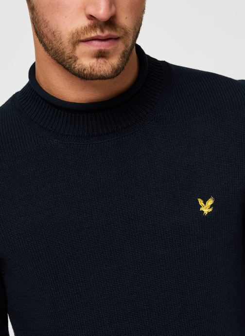 Vêtements Lyle & Scott Funnel Roll Top Knitted Jumper Bleu vue face