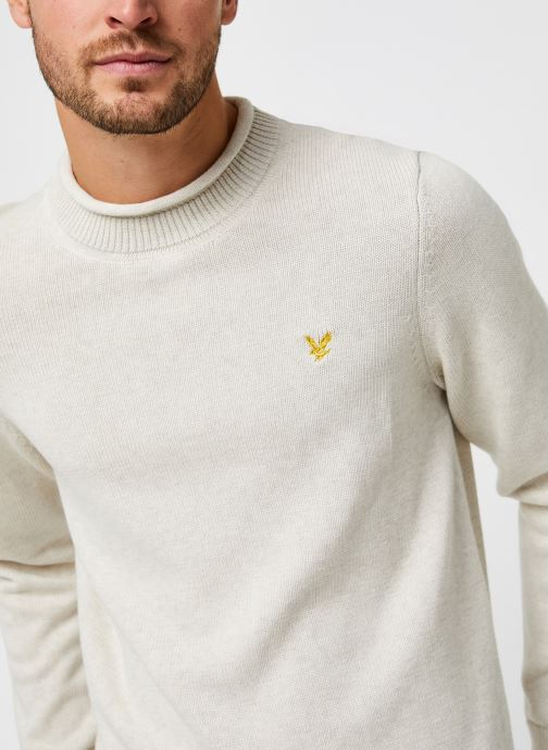 Vêtements Lyle & Scott Funnel Roll Top Knitted Jumper Blanc vue face