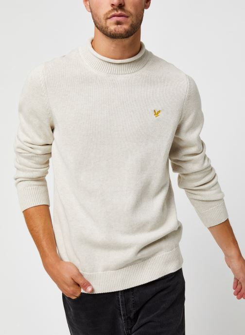 Kleding Accessoires Funnel Roll Top Knitted Jumper