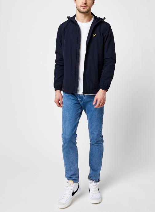 Kleding Lyle & Scott Zip Through Hooded Jacket Blauw onder