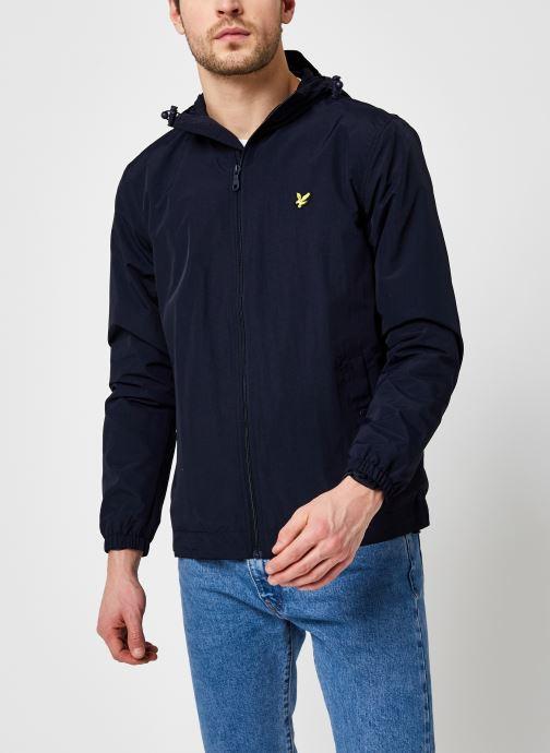 Kleding Lyle & Scott Zip Through Hooded Jacket Blauw rechts
