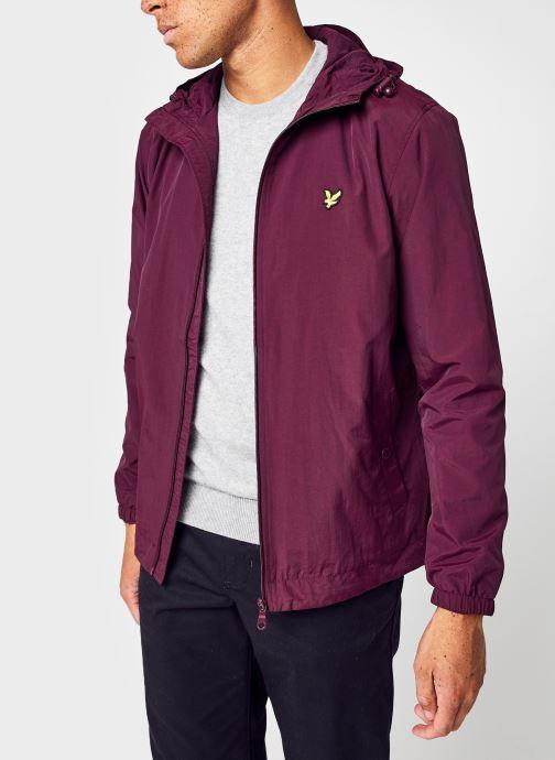 Vêtements Lyle & Scott Zip Through Hooded Jacket Bordeaux vue détail/paire