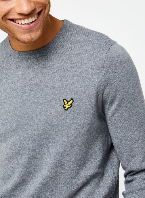 Vêtements Lyle & Scott Crew Neck Cotton Merino Gris vue face