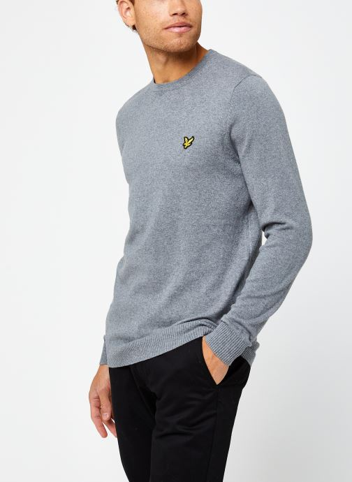 Vêtements Lyle & Scott Crew Neck Cotton Merino Gris vue droite