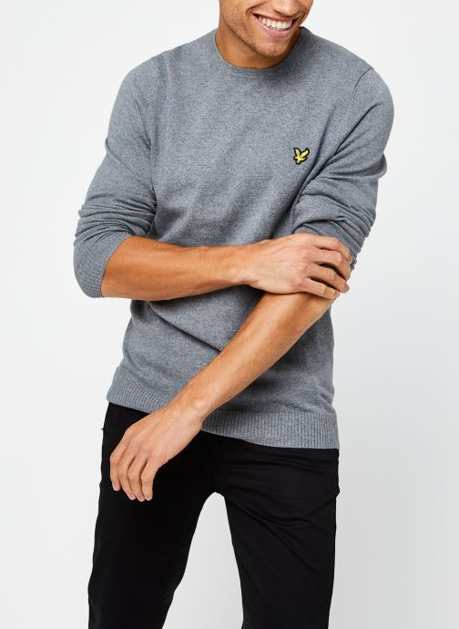 Vêtements Lyle & Scott Crew Neck Cotton Merino Gris vue détail/paire