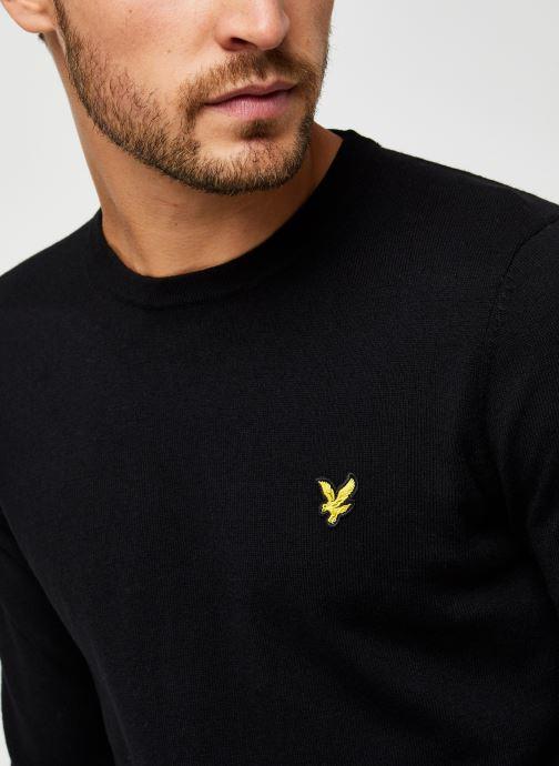 Vêtements Lyle & Scott Crew Neck Cotton Merino Noir vue face