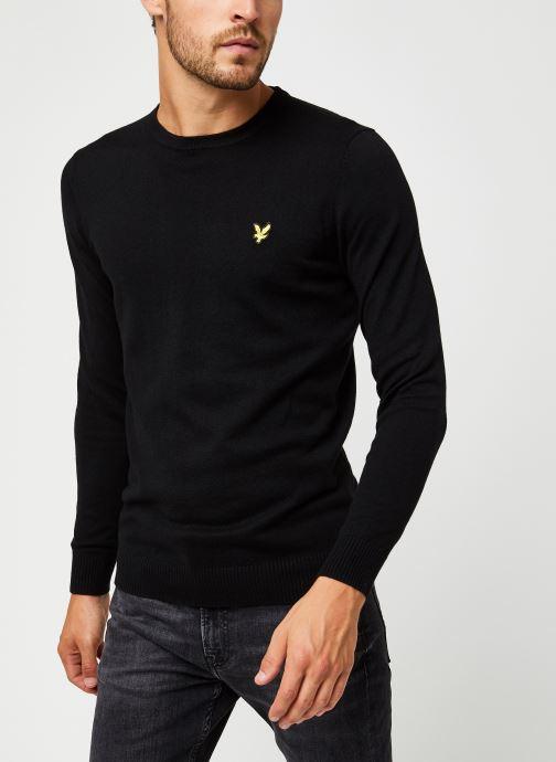 Vêtements Lyle & Scott Crew Neck Cotton Merino Noir vue droite