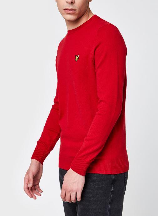 Vêtements Lyle & Scott Crew Neck Cotton Merino Rouge vue détail/paire