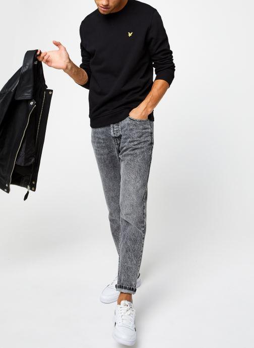 Vêtements Lyle & Scott Crew Neck Sweatshirt Noir vue bas / vue portée sac