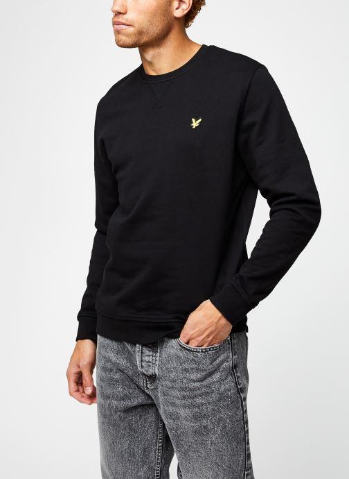 Vêtements Lyle & Scott Crew Neck Sweatshirt Noir vue droite