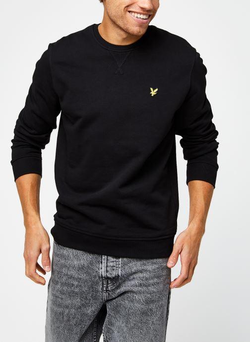 Vêtements Lyle & Scott Crew Neck Sweatshirt Noir vue détail/paire