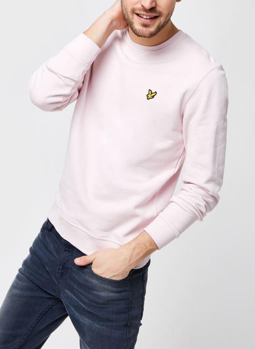 Kleding Lyle & Scott Crew Neck Sweatshirt Roze detail