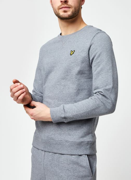 Kleding Lyle & Scott Crew Neck Sweatshirt Grijs detail