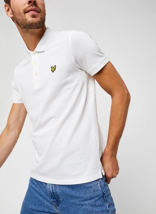 Vêtements Lyle & Scott Plain Polo Shirt Blanc vue détail/paire