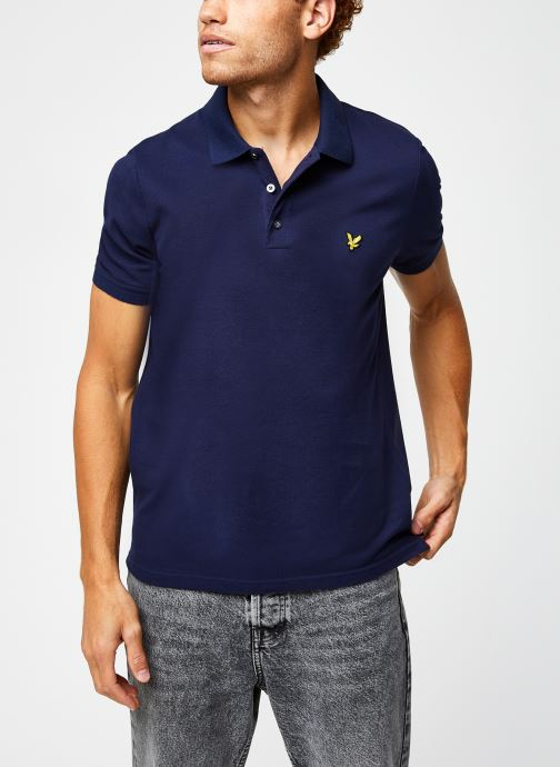 Kleding Lyle & Scott Plain Polo Shirt Blauw detail