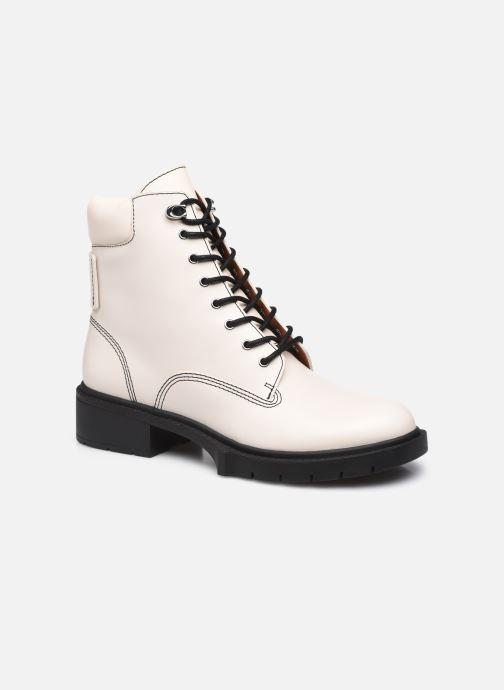 Stiefeletten & Boots Coach Lorimer Leather Bootie weiß detaillierte ansicht/modell