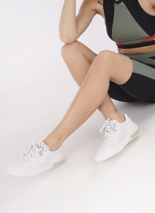 Sneaker Coach Citysole Suede-Leather Court weiß ansicht von unten / tasche getragen