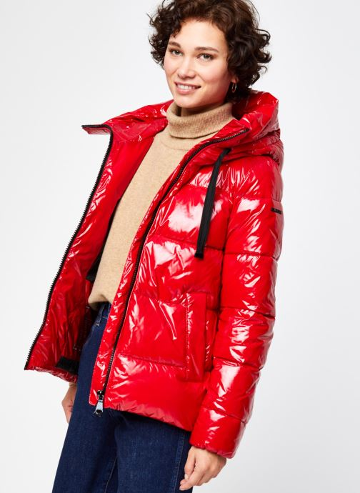 Kleding Geox EMALISE MD PARKA W0428P Rood detail
