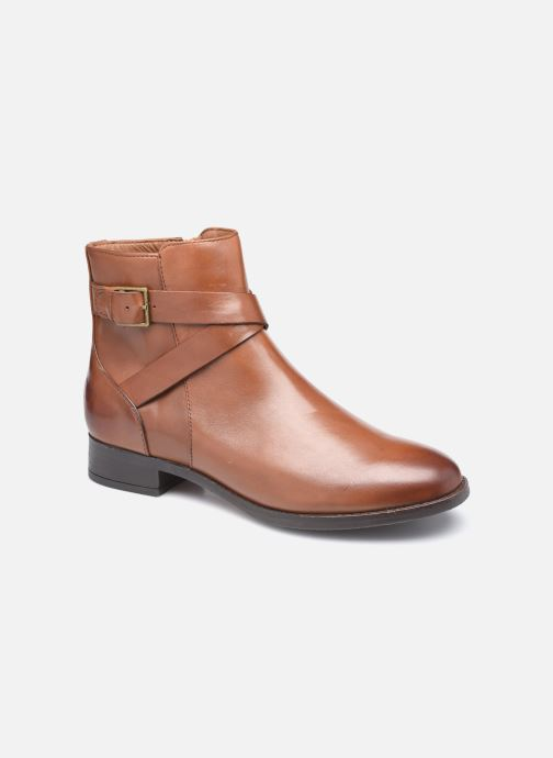 Bottines et boots Clarks Hamble Buckle Marron vue détail/paire