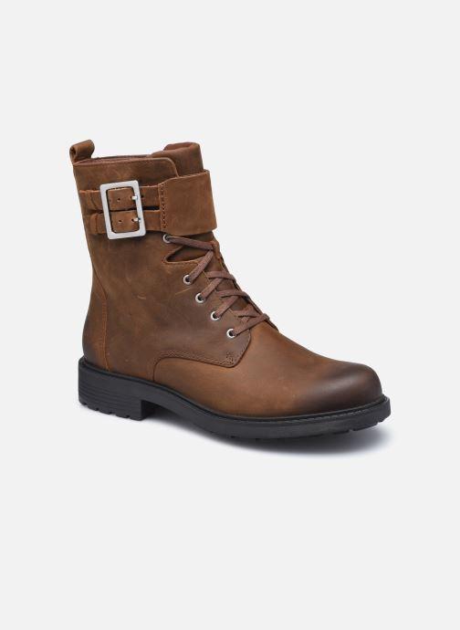 Bottines et boots Clarks Orinoco2 Lace Marron vue détail/paire