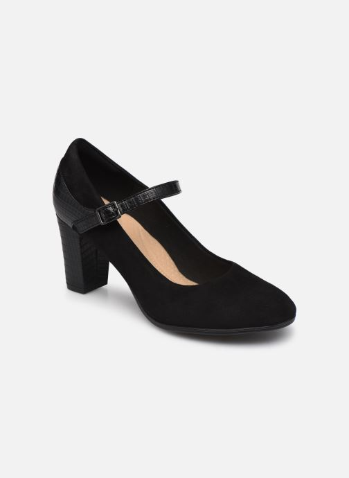 Zapatos de tacón Clarks Alayna Shine Negro vista de detalle / par