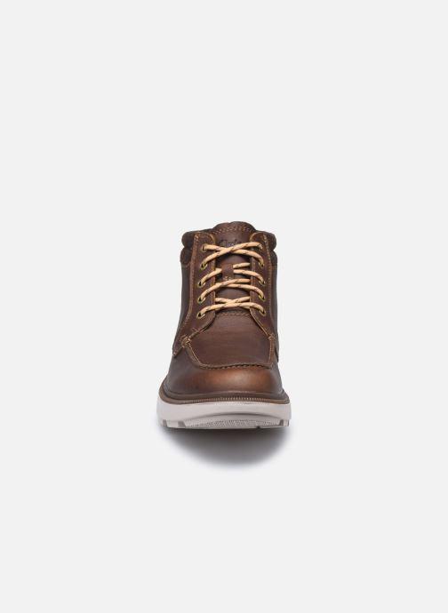 Stiefeletten & Boots Clarks Dempsey Moc braun schuhe getragen