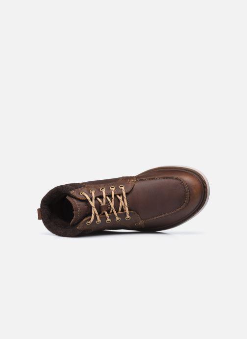 Stiefeletten & Boots Clarks Dempsey Moc braun ansicht von links
