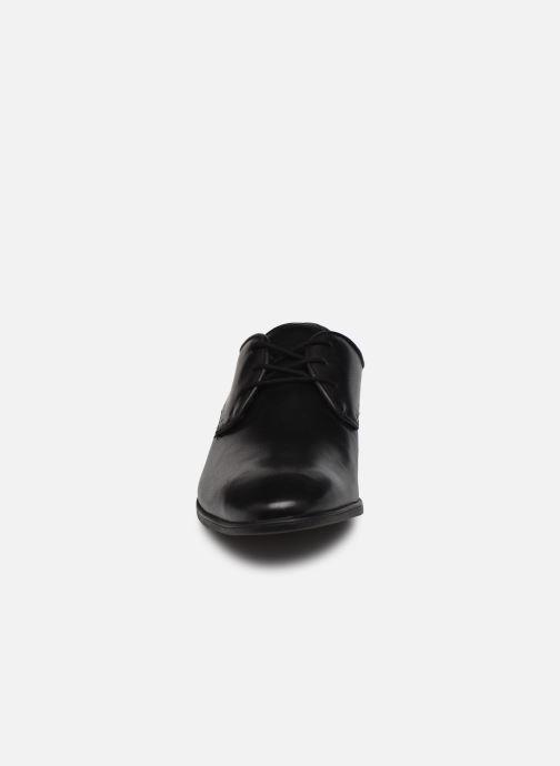 Schnürschuhe Clarks Bampton Park schwarz schuhe getragen