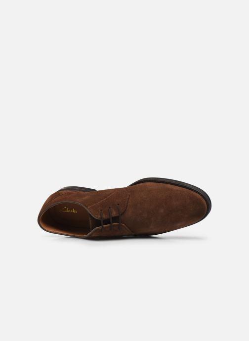 Chaussures à lacets Clarks CitiStrideLace Marron vue gauche