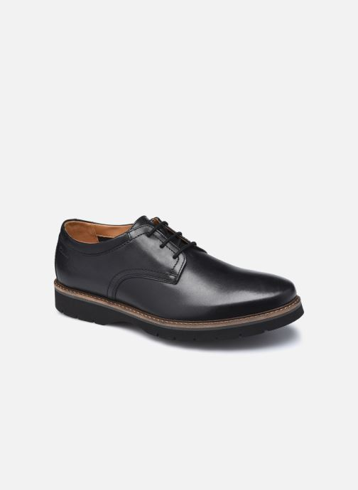 Chaussures à lacets Clarks Bayhill Plain Noir vue détail/paire