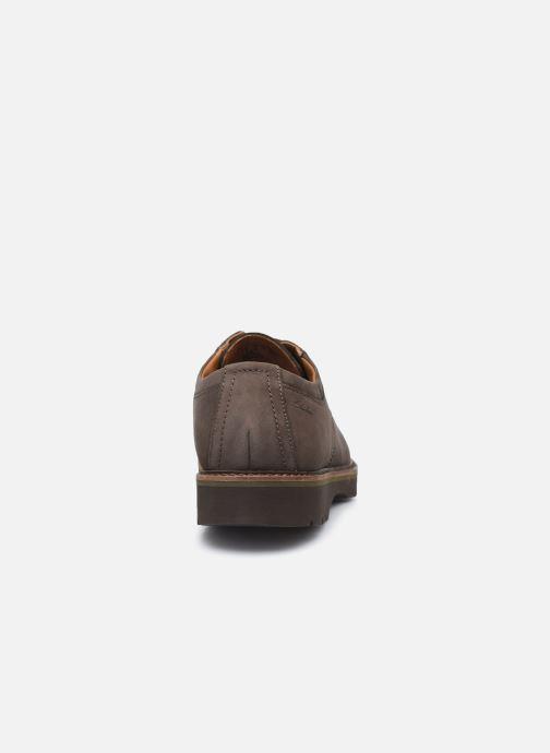 Chaussures à lacets Clarks Bayhill Plain Marron vue droite