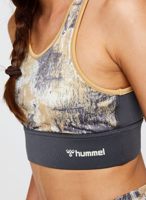 Vêtements Hummel Hmllotus Sports Bra Vegan Sustainability program Beige vue face