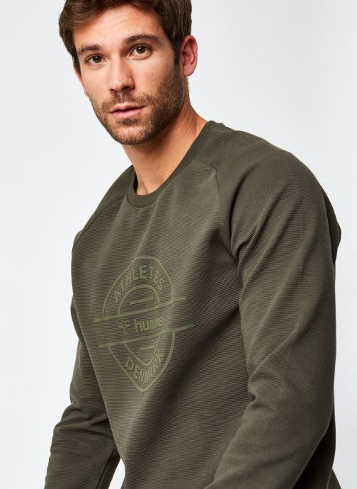 Vêtements Hummel Hmldare Sweat Shirt Vert vue face